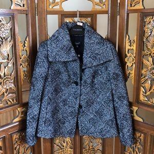 NWT Talbots Check Coat Size 4